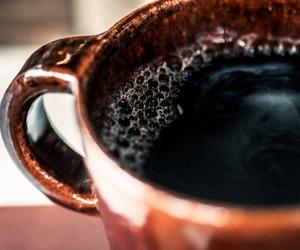 black, black coffee, and coffee image