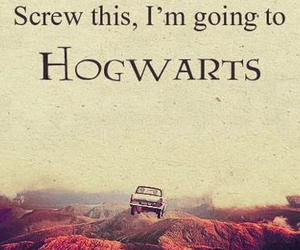 hogwarts, harry potter, and car image
