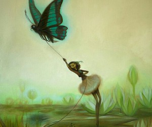 art, butterfly, and fairy image
