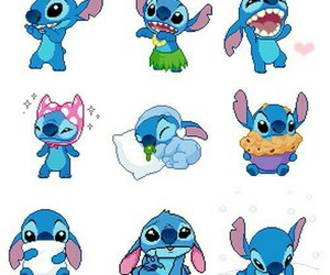 disney, cute, and stitch image