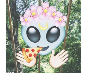 alien, pizza, and emoji image