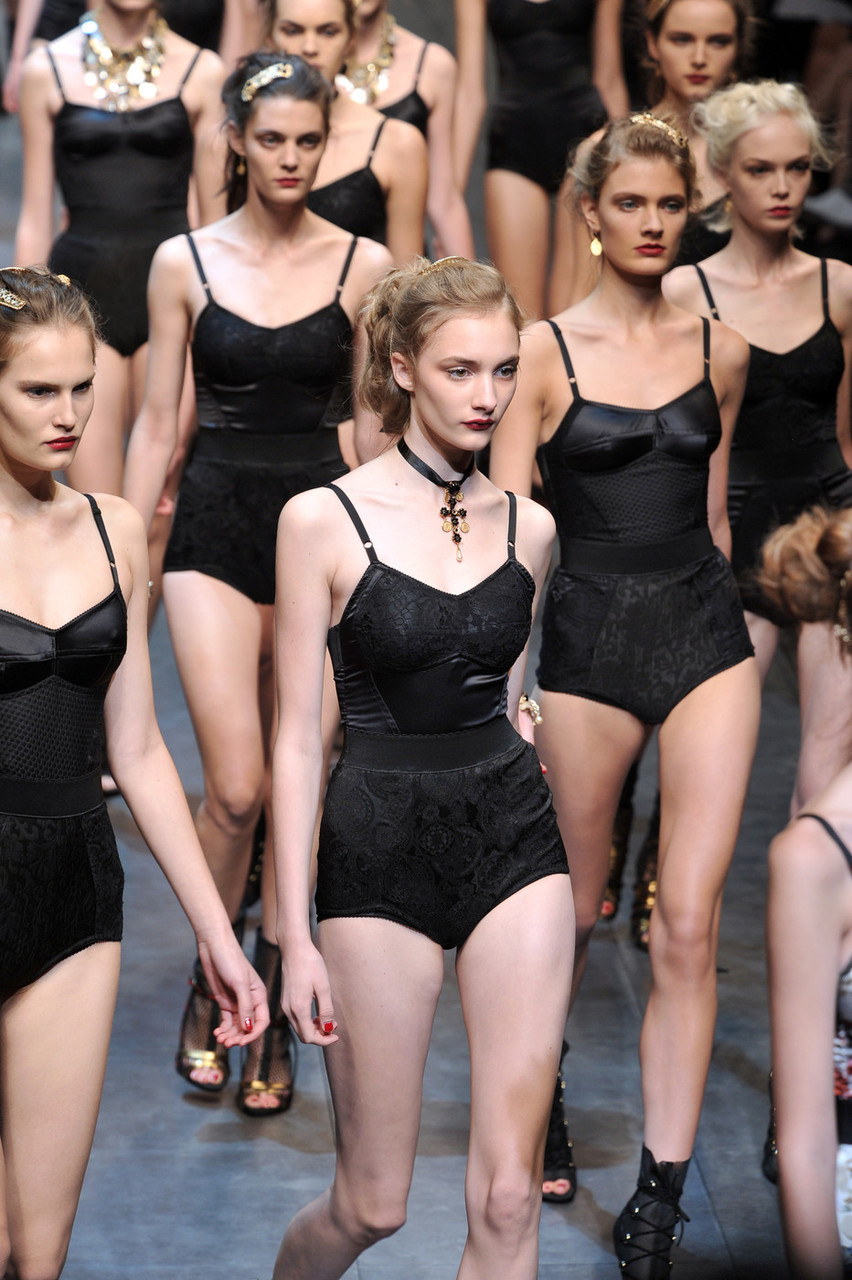 Couture, Dolce & Gabbana, and models image