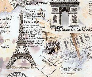 eiffel, mapa, and wallpaper image