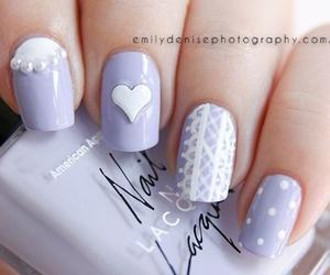 nails, nail polish, and pastel image