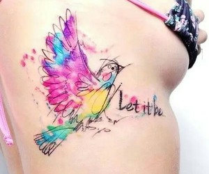 bird, girl, and let it be image