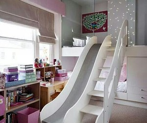 bedroom, slide, and room image