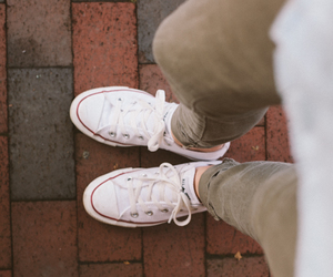 converse, white, and style image