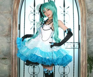blue, cosplay, and vocaloid image