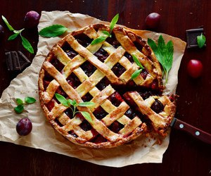 food, pie, and fruit image