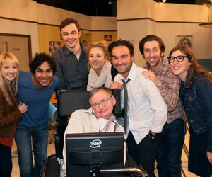 cast, stephen hawking, and tbbt image