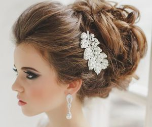 beautiful, bride, and fashion image