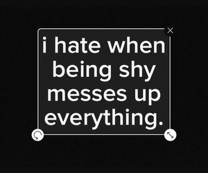 shy and hate image