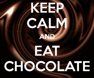 calm, chocolate, and eat image