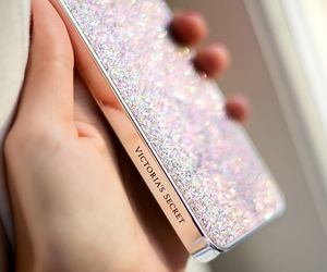 Victoria's Secret, iphone, and glitter image