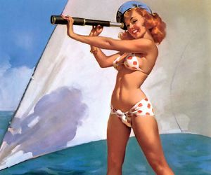 gil elvgren, girl, and Pin Up image