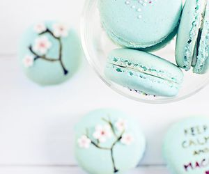 blue, macarons, and macaroons image