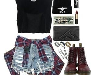 beanie, Polyvore, and red image