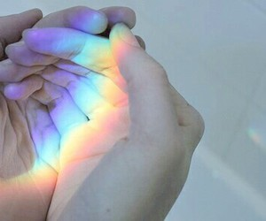 grunge, hand, and holographic image