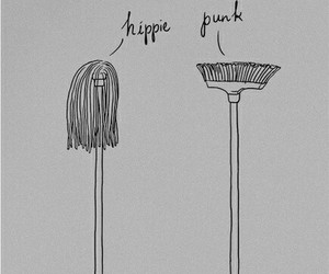 punk, hippie, and funny image