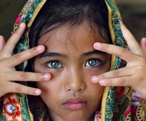 eyes, blue, and child image