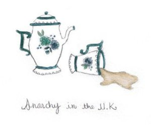 drawing, tea, and text image
