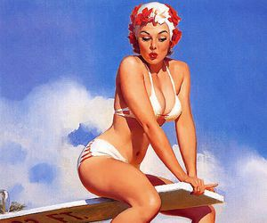 Pin Up, vintage, and gil elvgren image