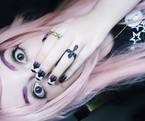 anime, japanese, and pink hair image