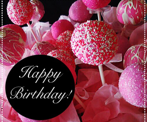 cake pops, candy, and happy birthday image