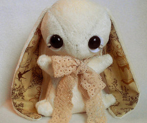plushie, rabbit, and cute image