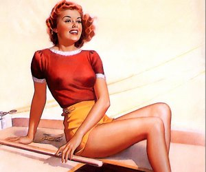 girl, Pin Up, and vintage image