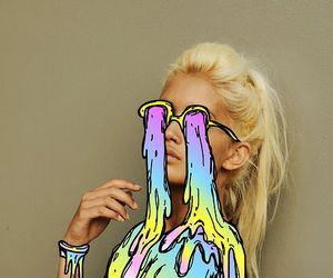 art, blonde, and colorful image