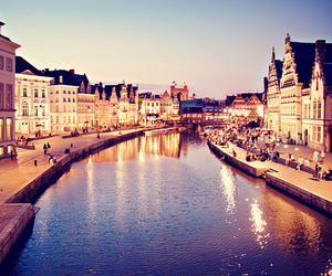 city, belgium, and Gent image