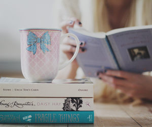 book, read, and tea image