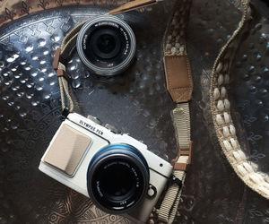 beige, camera, and lens image