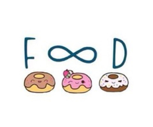 food, donuts, and infinity image