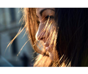 color, sun, and girl image