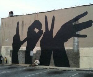 love, shadow, and art image