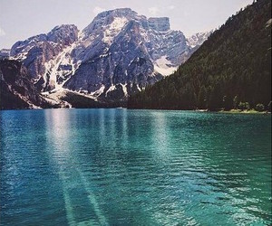 mountains, nature, and water image