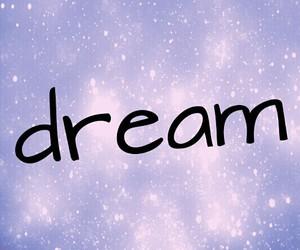 Dream, purple, and galaxy image