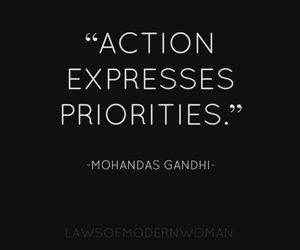 Action, quotes, and priority image