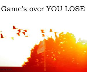 game, writing, and orange image