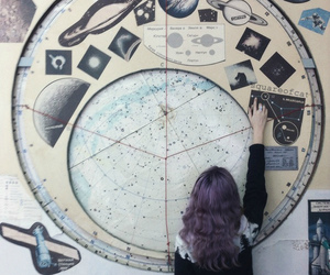 grunge, hair, and planet image