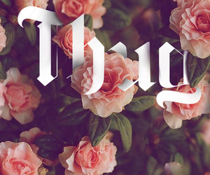 thug, flowers, and rose image