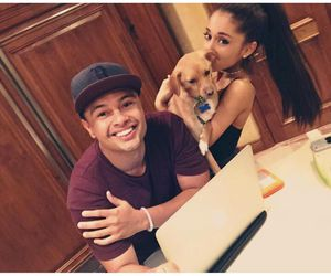 ariana grande, alfredo flores, and friends image