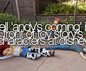 toy story, bucket list, and disney image