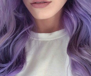 hair, lavender, and purple image