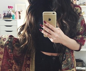 style, hair, and iphone image