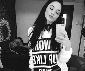 vanessa hudgens, black and white, and girl image