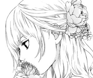 manga, girl, and flowers image