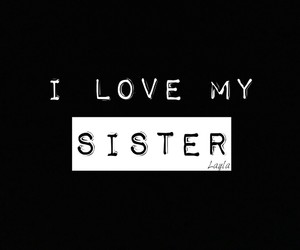 sister and love image